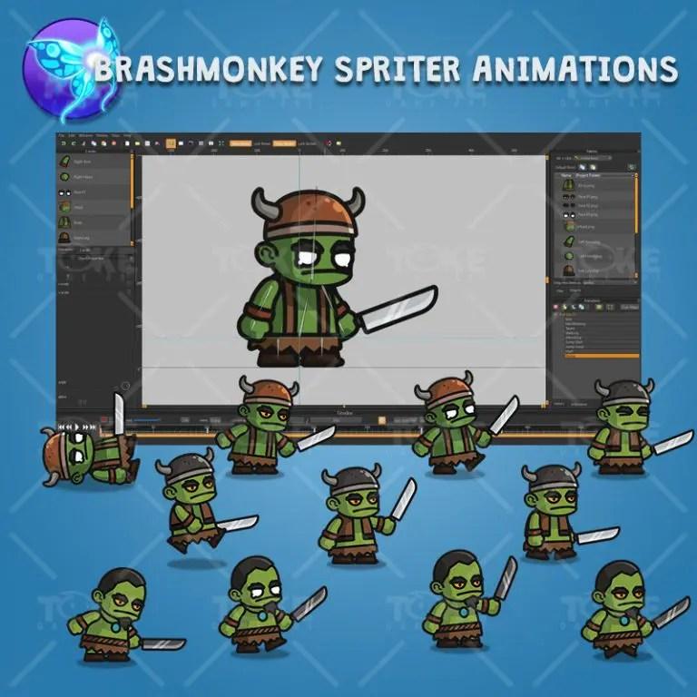 Evil Orc - Brashmonkey Spriter Character Animations