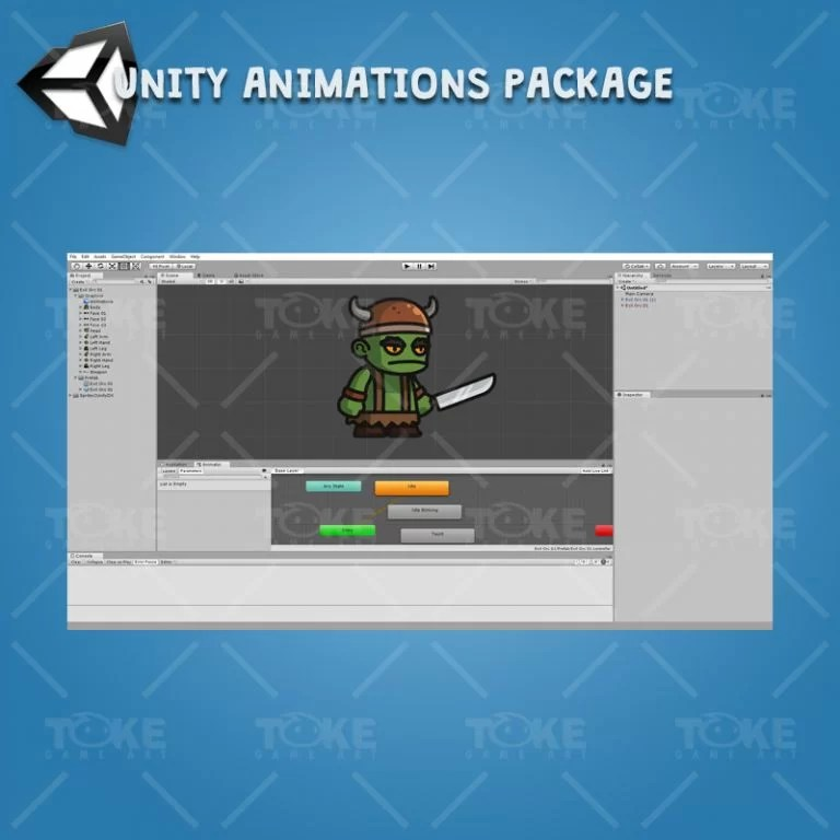 Evil Orc - Unity Character Animation Package Ready with Spriter2UnityDX Tool