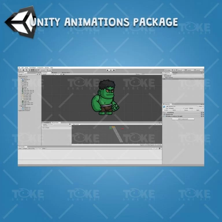 Gigantic Orc - Unity Character Animation Package Ready with Spriter2UnityDX Tool