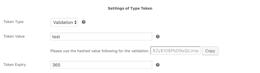 Token Vendor for WooCommerce - Product Settings Hashed Value