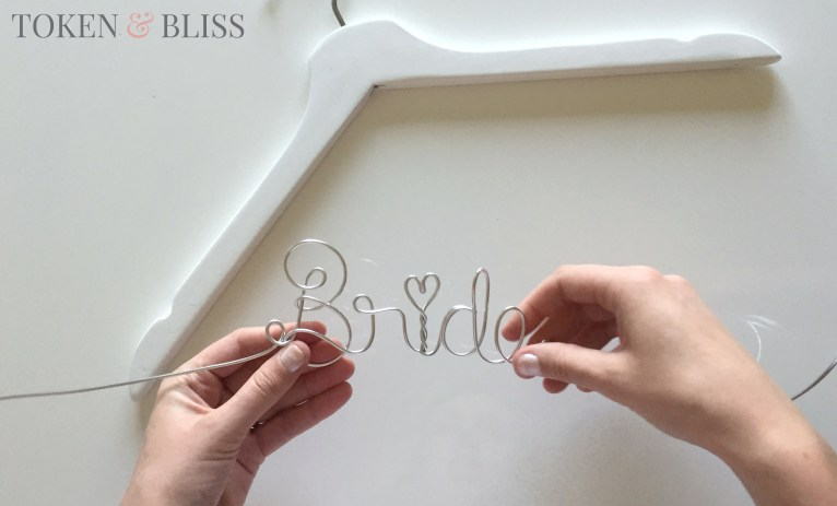 How to Make Your Own Personalized Wire Wedding Hangers • Token & Bliss