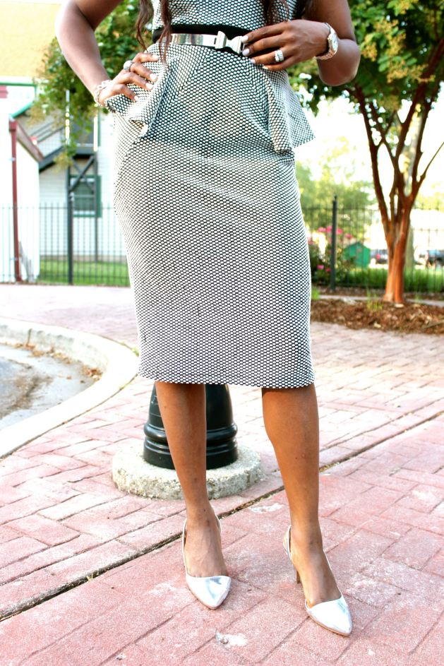 Peplum Midi Dress 5