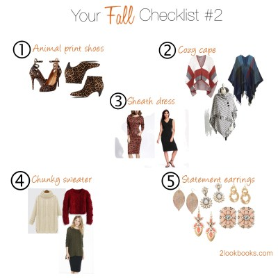 Your Fall Style Checklist – Part Deux