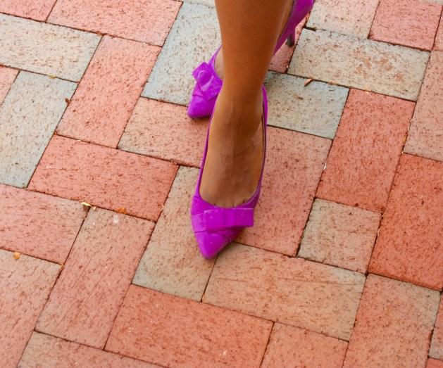 Light purple suede shoes