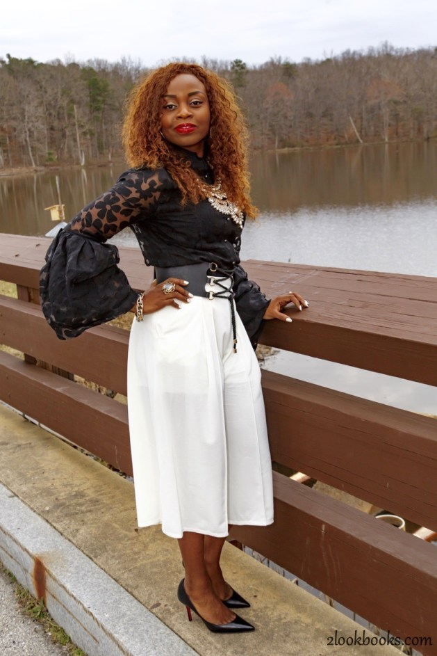 How to wear white culottes11