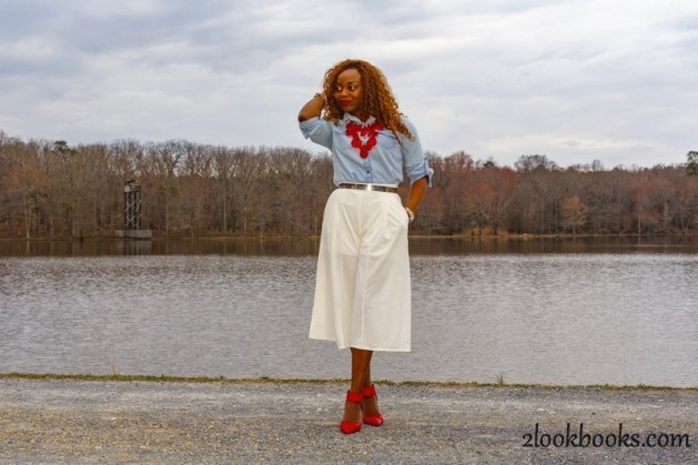 How to wear white culottes19