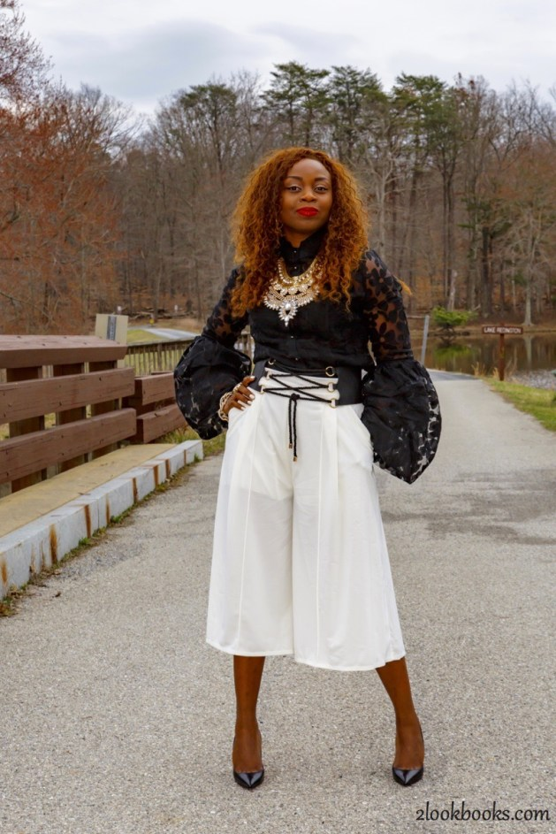 How to wear white culottes3