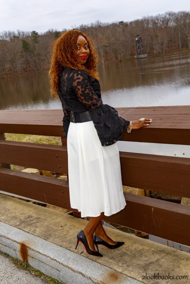 How to wear white culottes9