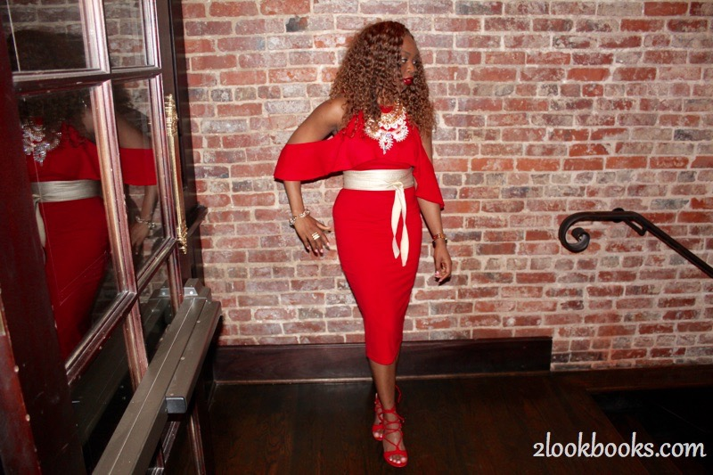 Red Party Dress11