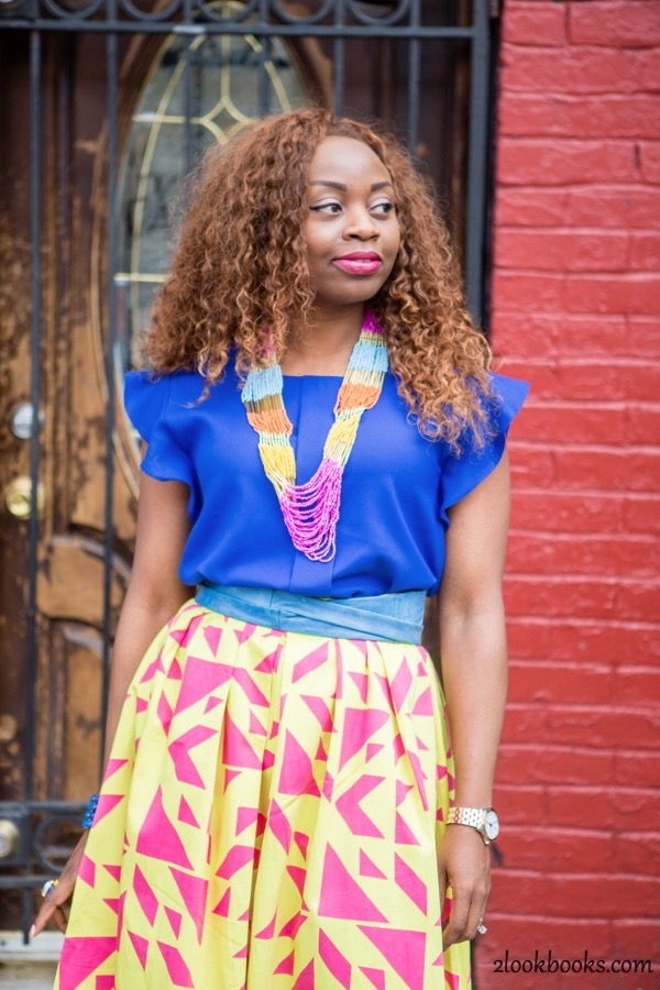 How to Style a Yellow Skirt2