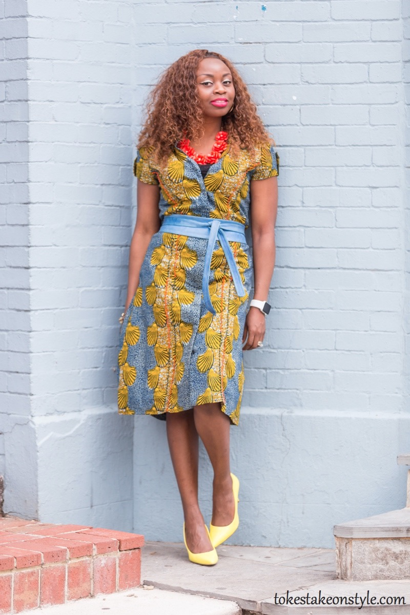 How to Style a Print Shirt Dress4