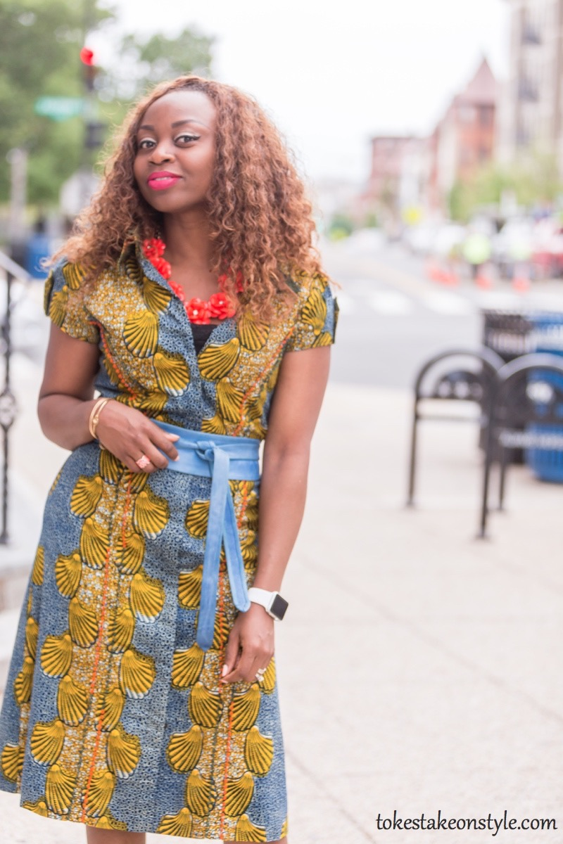 How to Style a Print Shirt Dress8