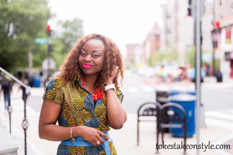 How to Style a Print Shirt Dress9