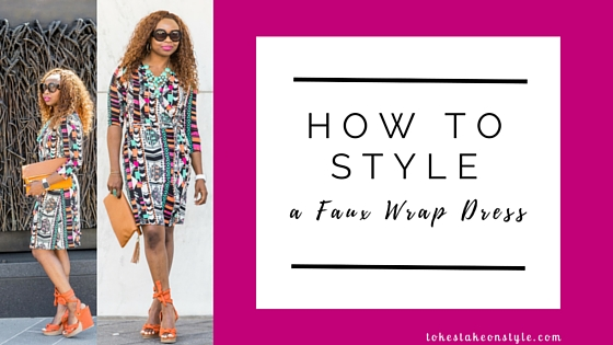 How to style a faux wrap dress