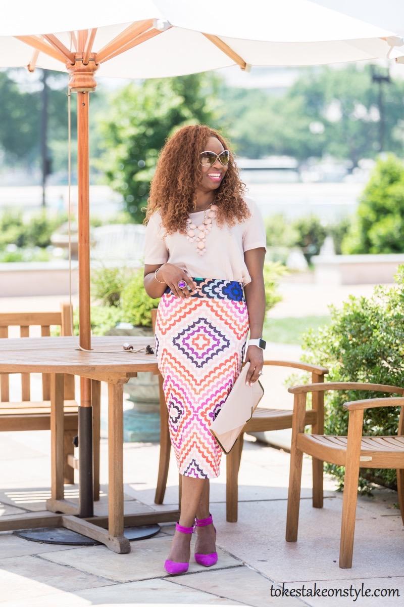 Print Skirt and Pastel Top-3 Ways3