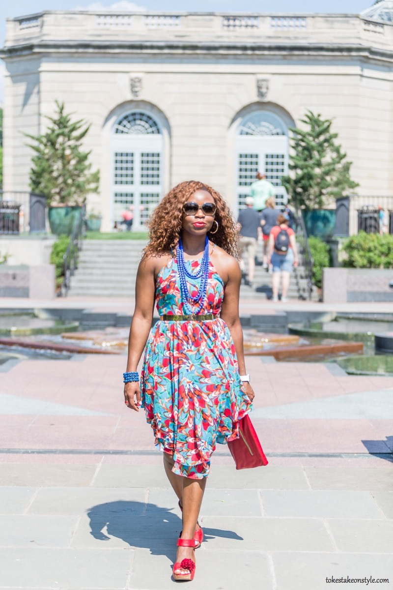 How to Style a Print Dress13