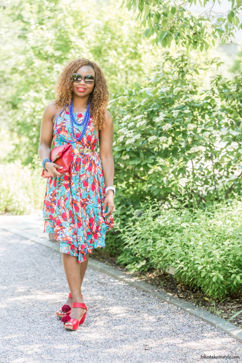 How to Style a Print Dress14