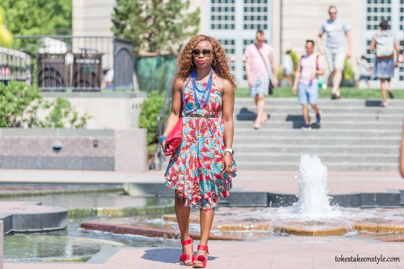 How to Style a Print Dress8