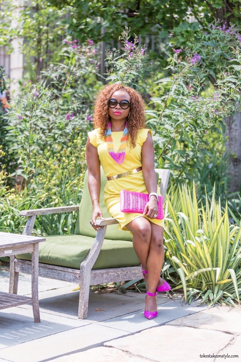 How to Style a Yellow Dress for Work11