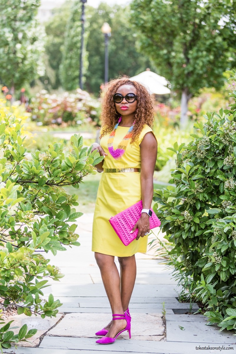How to Style a Yellow Dress for Work5