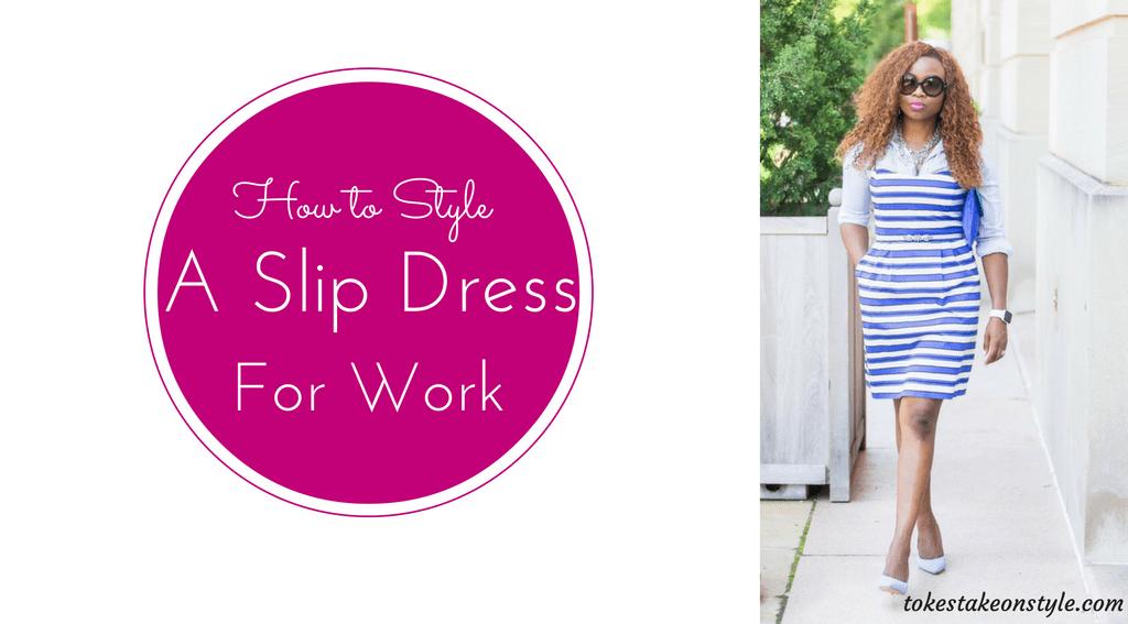 slip dress for work