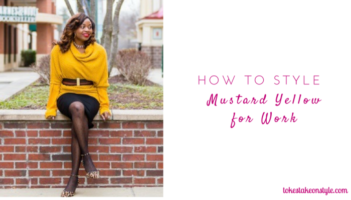 How to Wear Mustard Yellow to Work