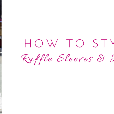 How to Style Flared Ruffle Sleeves and Jeans