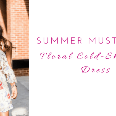 Summer Style: Floral Cold Shoulder Dress