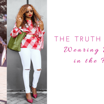The truth about wearing white in the fall