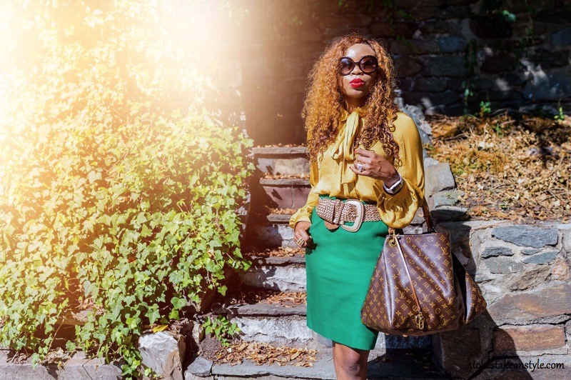 Oversized sunglasses mustard yellow outfit