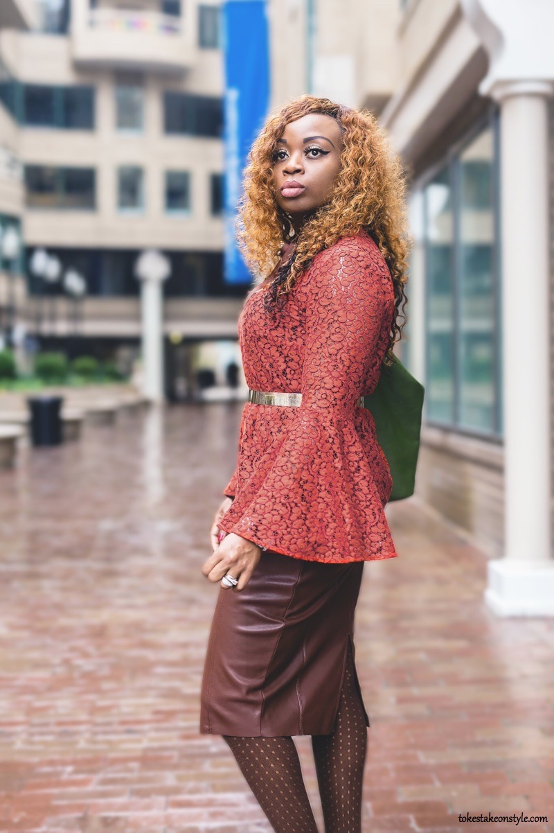 Black Fashion Blogger in Bell Sleeve Top