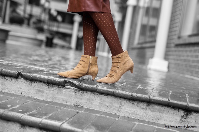 Blogger Wearing Nine West Zaden Booties