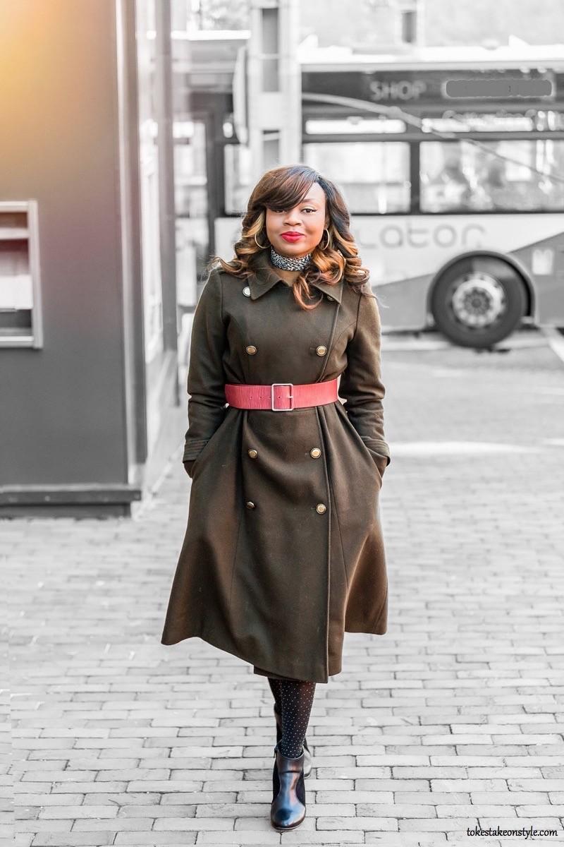 khaki green military coat by Rachel Rachel Roy