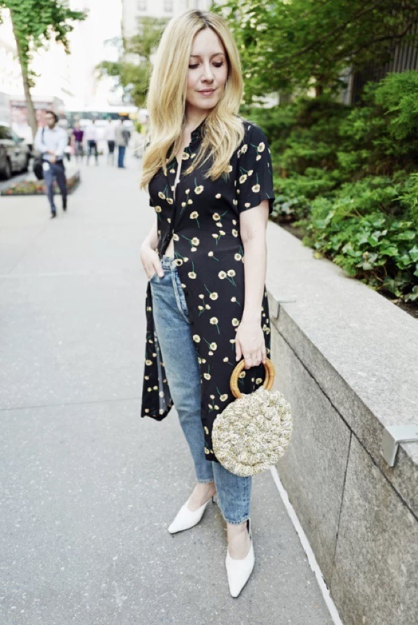 transition-your-summer-wardrobe-to-fall-woman-maxi-dress-over-jeans