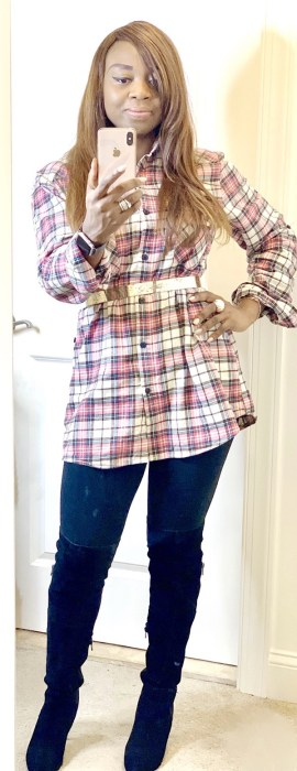 simple ways to style plaid for a casual look