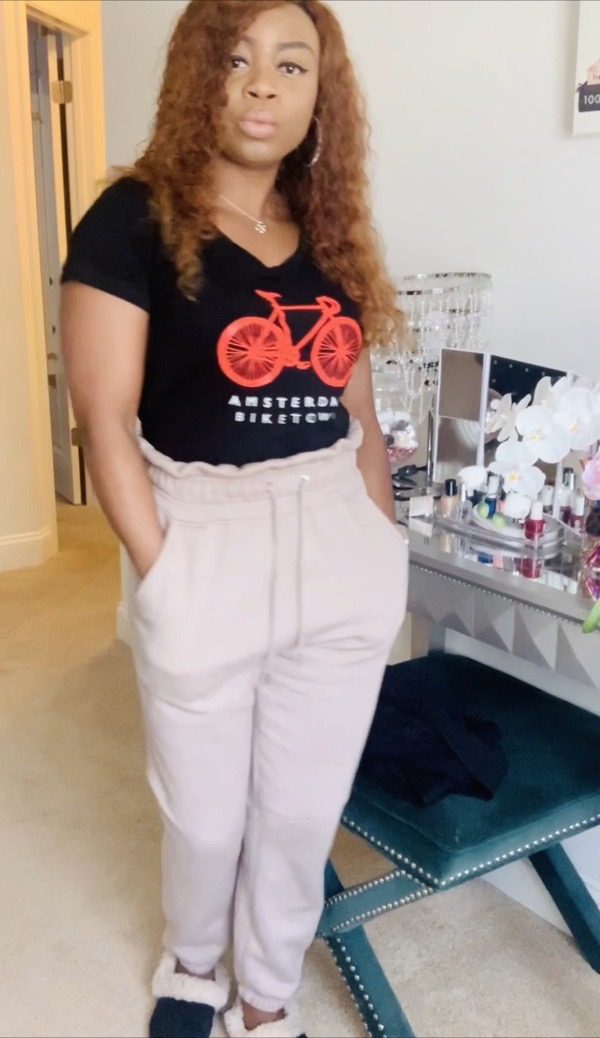 tokestakeonstyle-cute-comfy-loungewear-high-waist-joggers-graphic-t-shirt