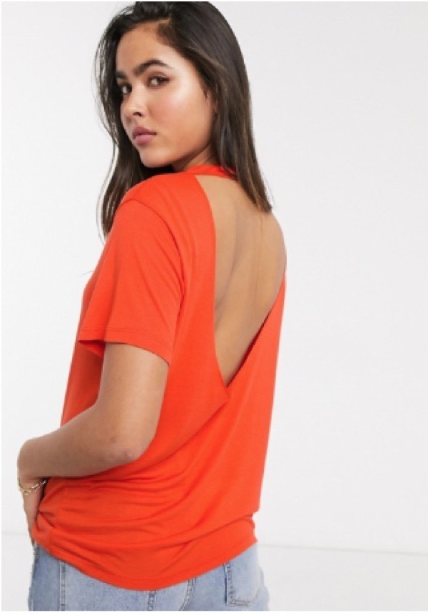 wearable-summer-2020-fashion-trends-Asos-red-backless-open-back-t-shirt