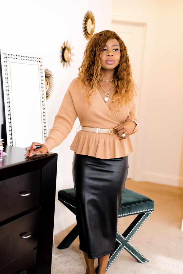 how-to-wear-belted-peplum-sweater