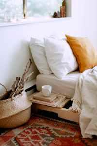 cozy bedroom interior with no people