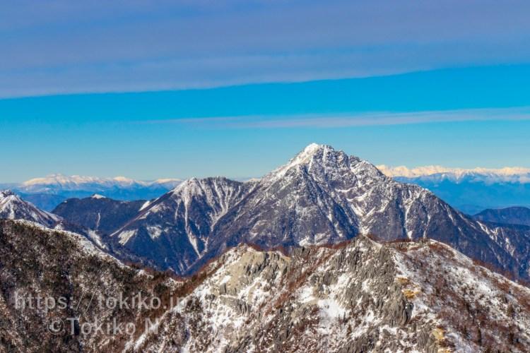 鳳凰三山から見る甲斐駒ヶ岳