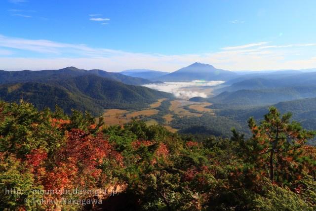 至仏山からみた尾瀬ヶ原と燧ヶ岳・会津駒ヶ岳
