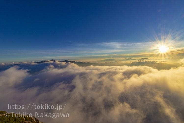 五竜岳山頂から見る白馬三山