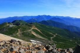 乗鞍岳と北アルプス