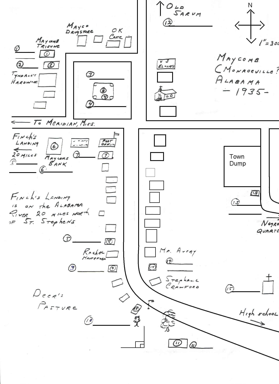 Map Of Macomb To Kill A Mockingbird