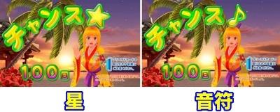 Pスーパー海物語IN沖縄2 設定示唆 星 音符
