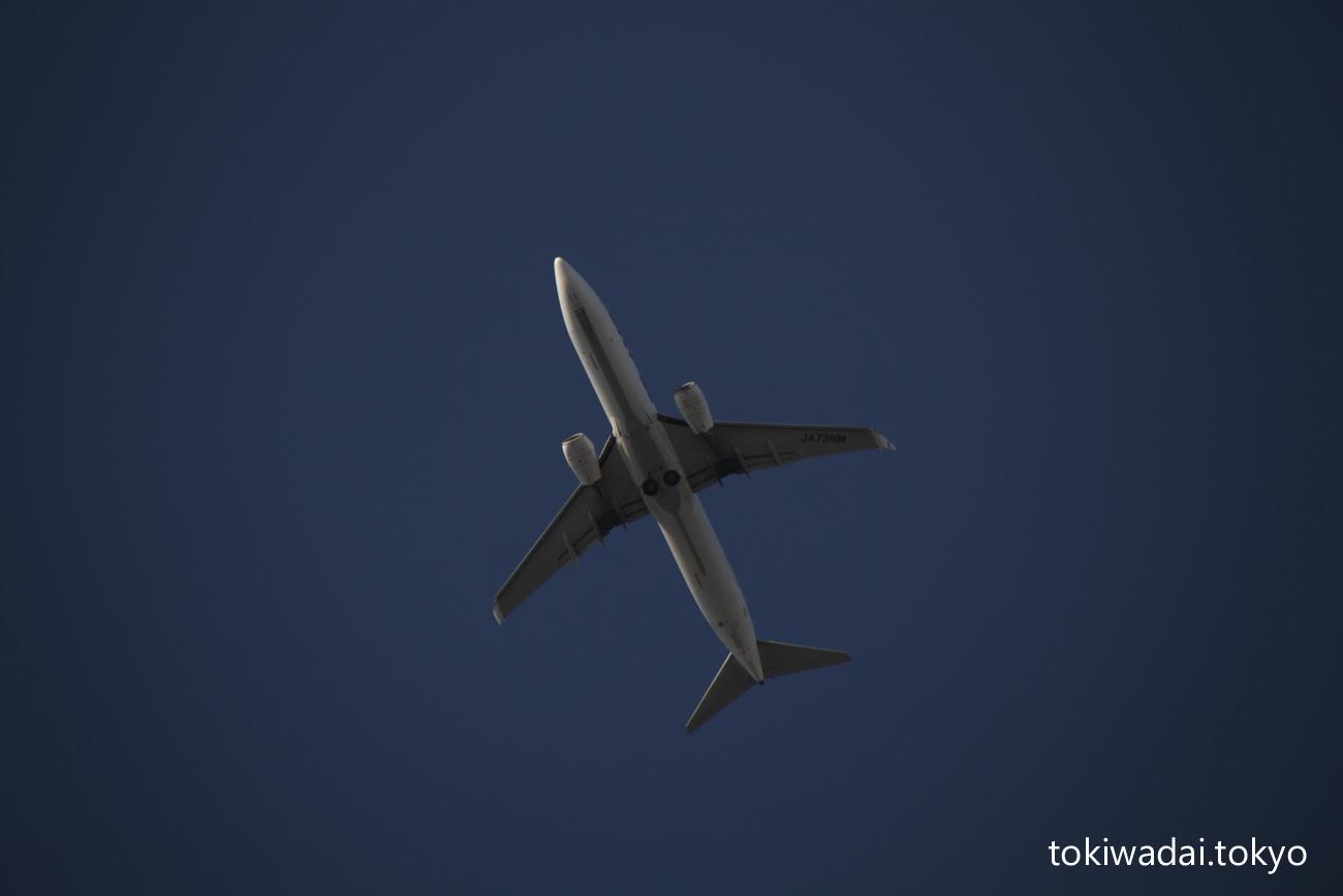 スカイマーク ボーイング 737-800 ときわ台上空