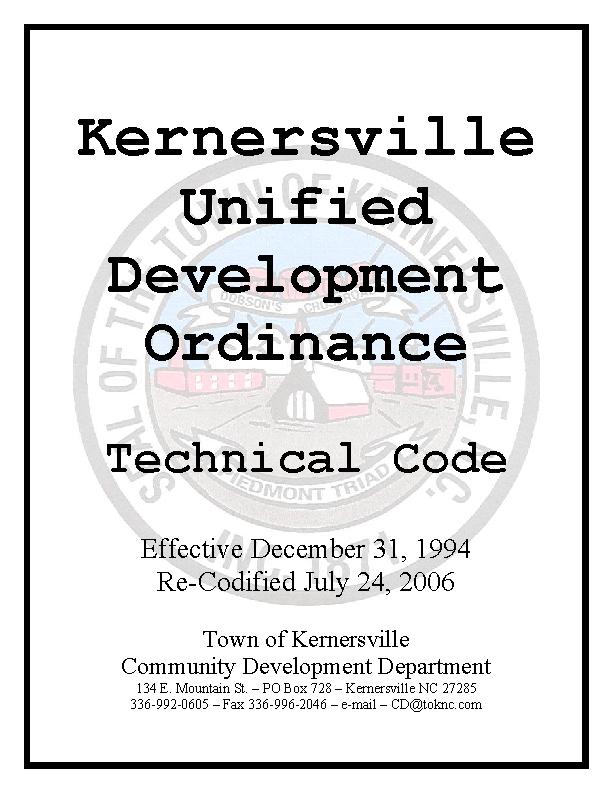 Unified Development Ordinance