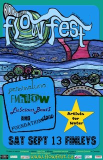 This colourful poster was inspired by the great Hundertwasser.