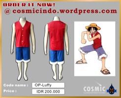 Kostum Cosplay-One Piece Luffy-088806003287