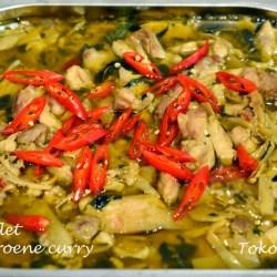 Kipfilet in groene curry